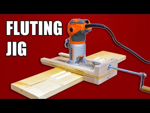 Adjustable Fluting Jig - Mini Router Jig