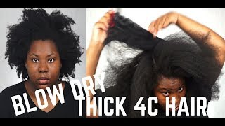 SAFELY BLOW DRY THICK KINKY 4C HAIR THAT WORKS !! | NO MORE BREAKAGE (NO HEAT DAMAGE) | Bubs Bee