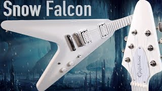 An Epiphone Better than a Gibson? | 2016 Brendon Small Snow Falcon White Flying V | Review + Demo