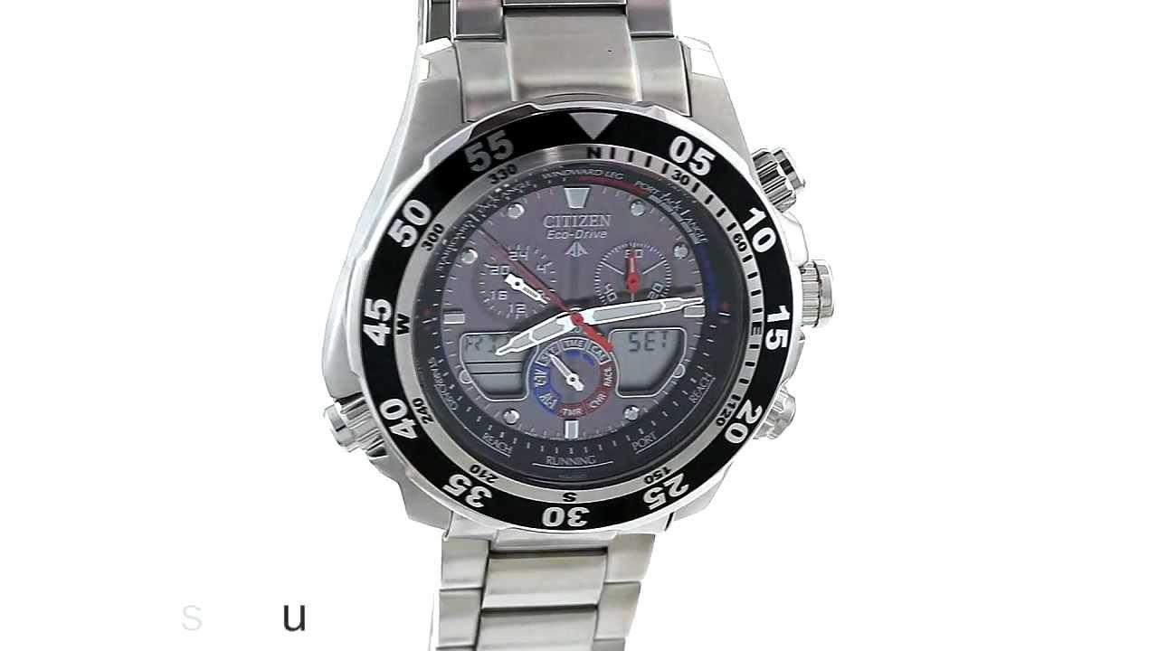 d4dc7a849b3 Citizen Eco-Drive Chronograph World Time Watch - JR4045-57E - YouTube