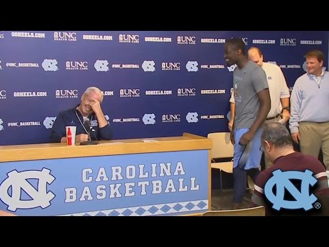 Theo Pinson Crashes Roy Williams Presser, Pinson To Play vs NC State