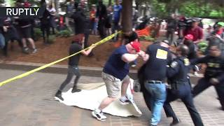 Violence erupts between Antifa & right-wing Patriot Prayer in Portland