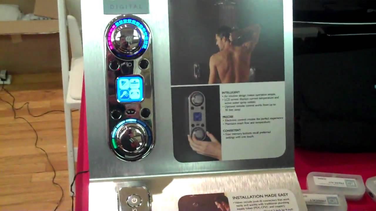 Genial Digital Faucet Controls Shower Temperature   YouTube