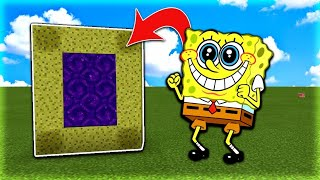 How To Make a Portal to the SpongeBob Dimension in MCPE (Minecraft PE)