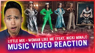 LITTLE MIX - WOMAN LIKE ME (feat. Nicki Minaj) MUSIC VIDEO REACTION // RWRG