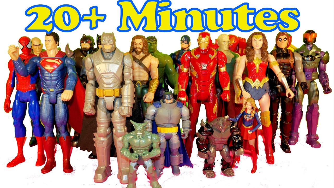 Justice League & Titan Hero Series Superhero Collection- DC and Marvel figures!