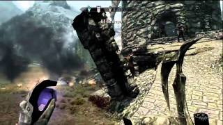 Skyrim - Dragon Fight Gameplay Video (Xbox 360)