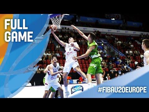 Serbia v Slovenia - Full Game - FIBA U20 European Championship 2016