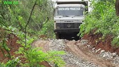 Truck offroad - tata 1616z in narrow mountain road