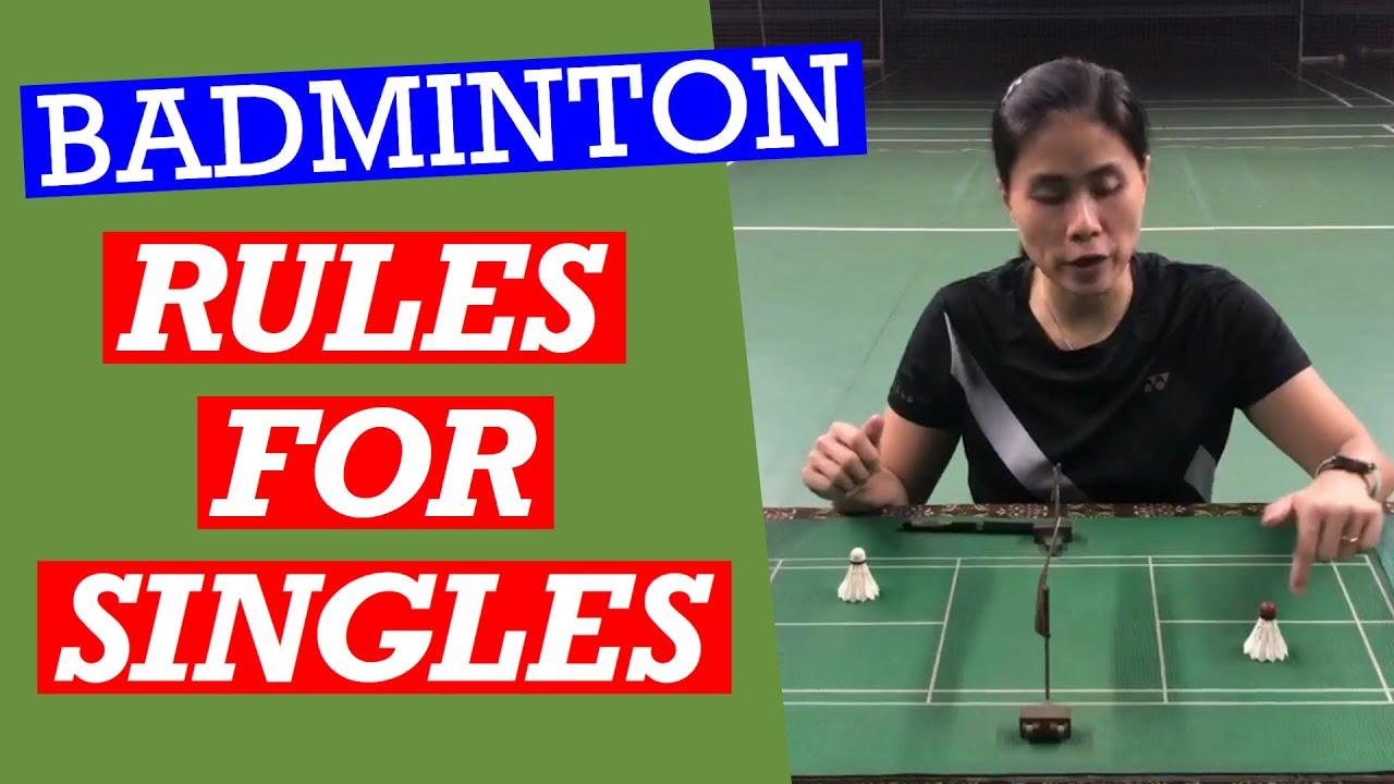 BADMINTON RULES FOR SINGLES- Avoid penalties by knowing the rules for singles #badminton #singles