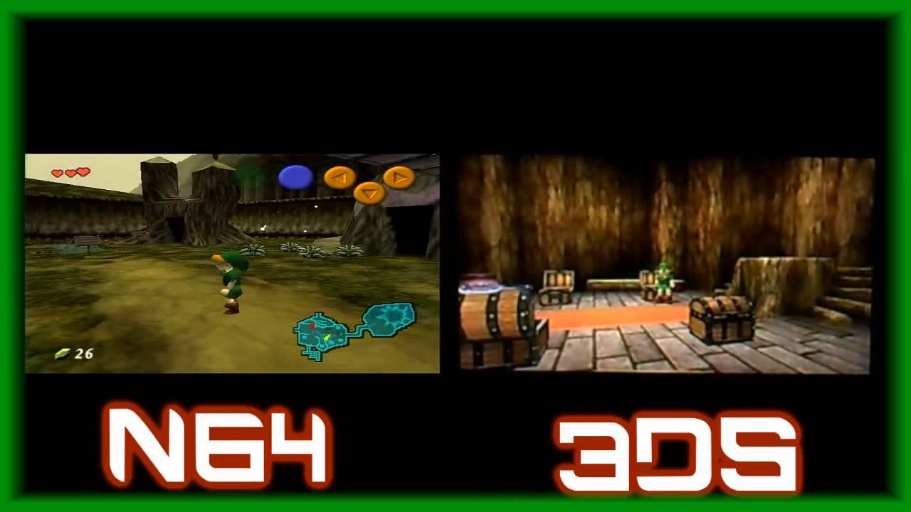 Zelda- Ocarina of time- 3DS and N64 gameplay comparison