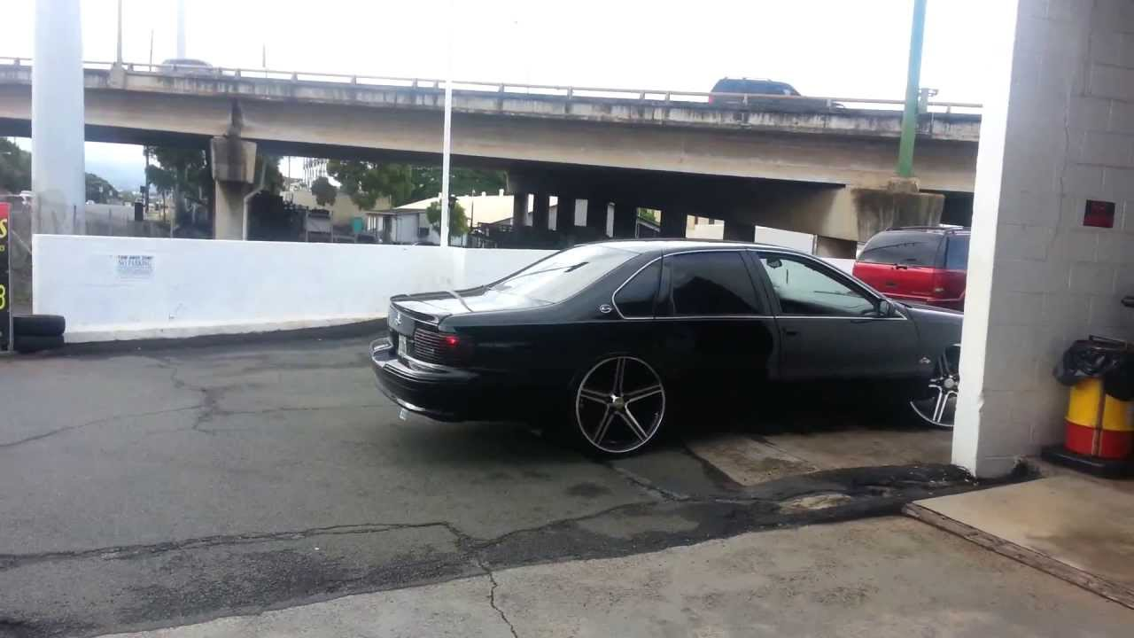 95 Impala Ss On 24 Inch Black Iroc Rims Doovi
