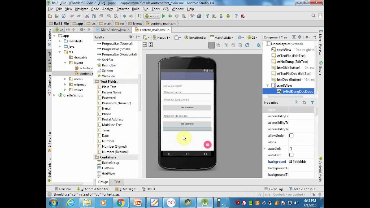 Android studio video view file