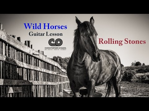 Wild Horses (intermediate guitar lesson) Standard tuning with sheet music