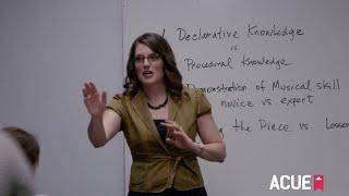 Checking for Student Understanding: Classroom Demonstration (Excerpt)