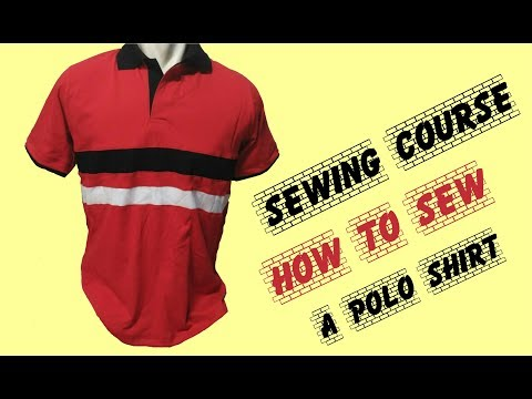 DIY sewing course how to sew a polo shirt . belajar cara membuat kaos polo