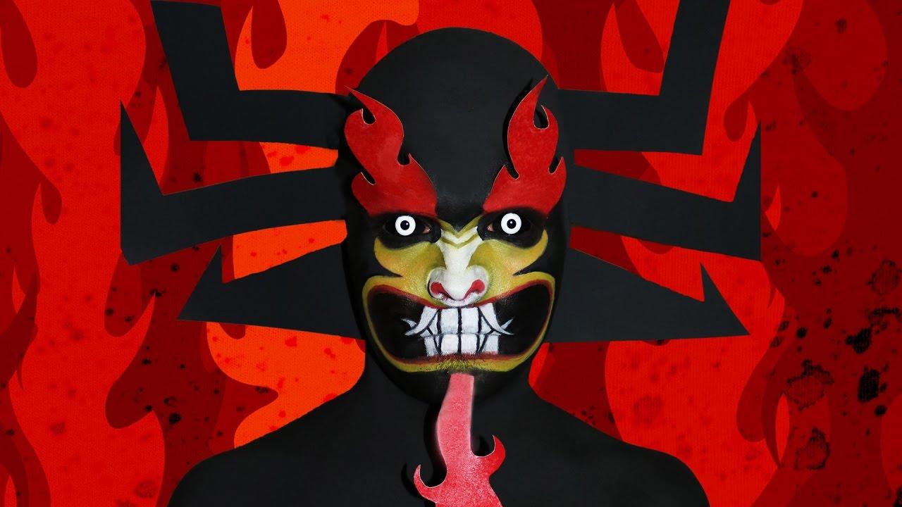 Aku Samurai Jack Makeup Tutorial Youtube