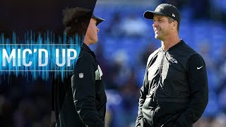 "John Harbaugh Mic'd Up vs. Raiders ""When you're done playing, you're coaching!"" 