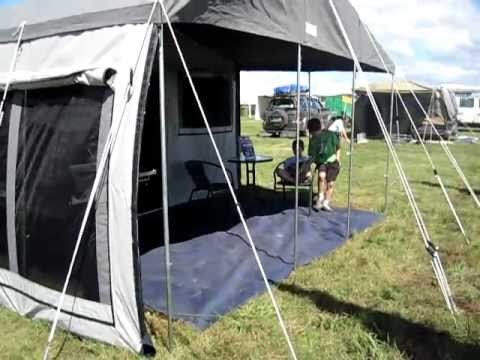 XTRAIL 9ft side fold c&er tent - Walk through & XTRAIL 9ft side fold camper tent - Walk through - YouTube