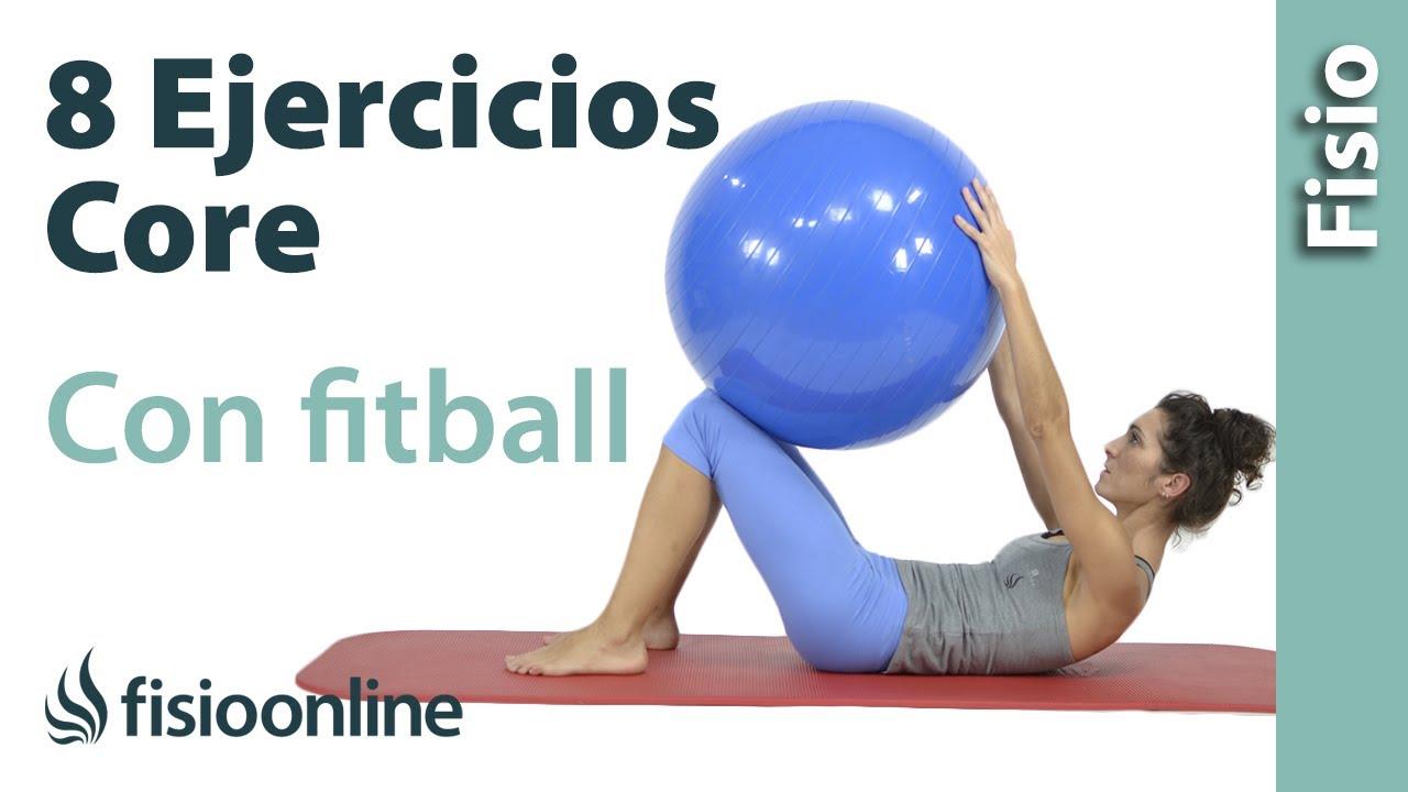 8 ejercicios con pelota de fitball para trabajar el core - YouTube 6d759721e658