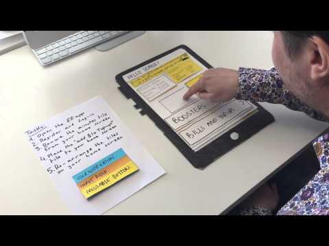 Low fidelity prototype testing of the EE app