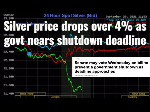 Silver price drops over 4% as Govt nears shutdown deadline
