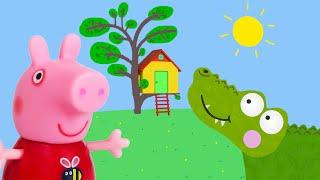 Peppa Pig Game   Crocodile Hiding in Peppa Pig Toy Treehouse   Peppa Pig Tree House Playset