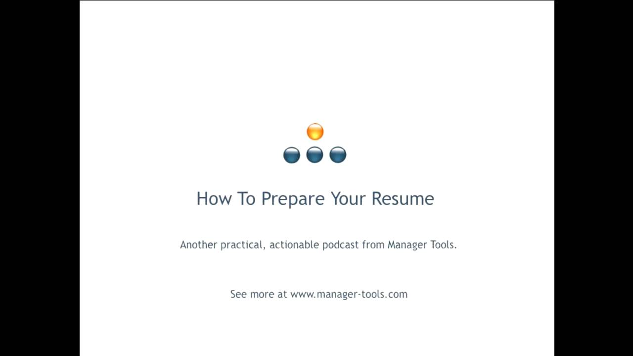 how to prepare your resume