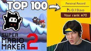 Mario Maker 2 GOT A SPEEDRUN MODE! (Ninji Rolling Snowballs)