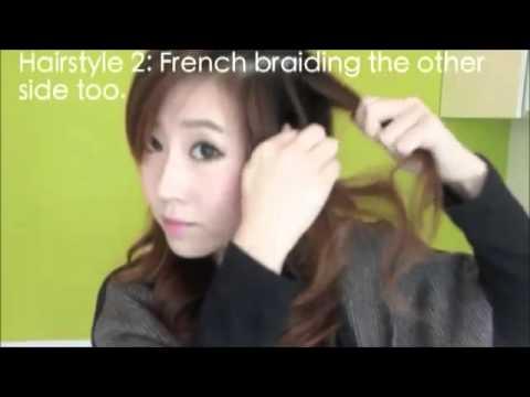 Những kiểu tóc tết headband đáng yêu