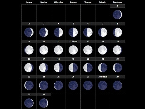 Calendario lunar 2018 youtube for En que luna estamos