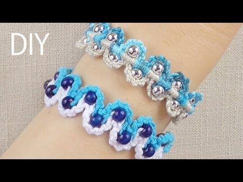DIY Macrame Bracelets - Waves with Beads