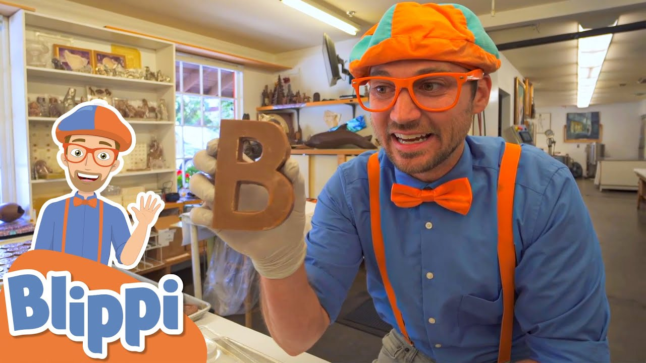 Blippi Makes Candy At The Chocolate Factory! | Fun & Educational Videos For Kids