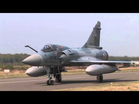 Mirage 2000-5 line up in Nato Tiger Meet 2009 in Belgium