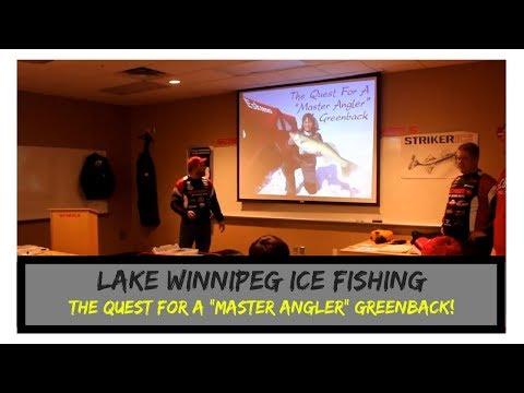 Lake Winnipeg - Ice Fishing for Master Angler Walleye - (Part 1)