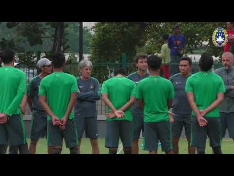 Tim Nasional Indonesia Gelar Latihan Jelang Hadapi Timnas Islandia