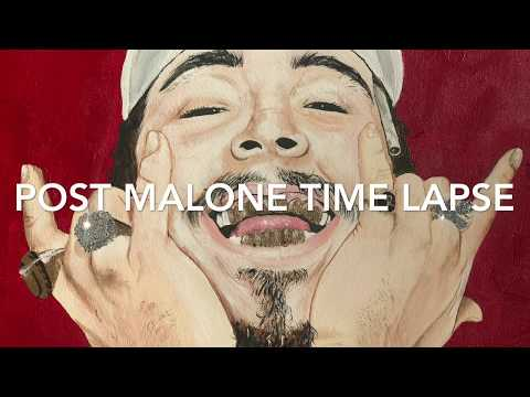 Post Malone painting time lapse
