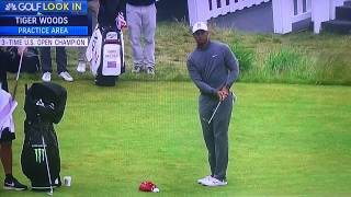 Tiger Woods - Pitching Practice (2018 US Open)