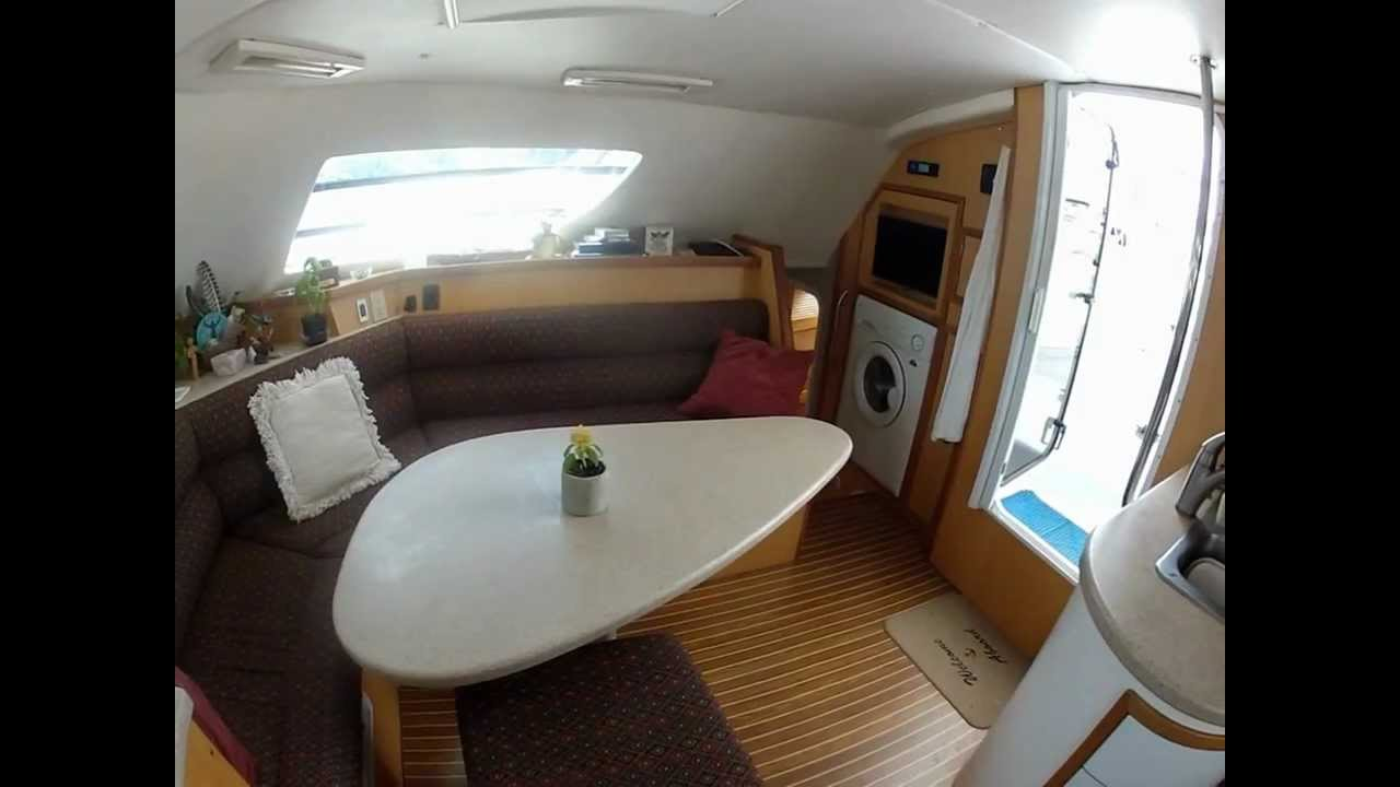 take a tour inside now  u0026 zen  a 42 ft sailing catamaran