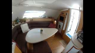 Take a Tour Inside Now & Zen, a 42 ft Sailing Catamaran