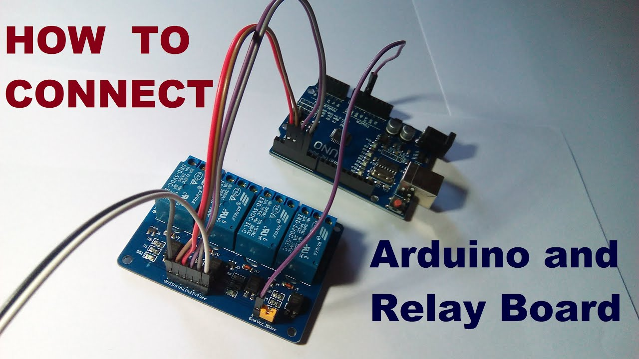 how to connect arduino and relay board youtube rh youtube com arduino multiple relay board wiring Arduino 4 Relay Module Wiring