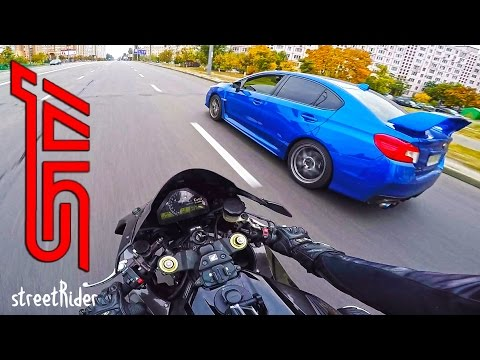 ЧУВАК НА СУБАРУ ПЫТАЛСЯ | Subaru WRX STI vs Fireblade - Ruslar.Biz