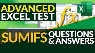 Gambar cover Excel Test for Job Interview: Excel SUMIFS Formula Questions and Answers [+XLSX]