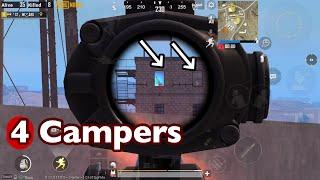 PUBG MOBILE | Wizard VS  4 campers in blue building | miramar