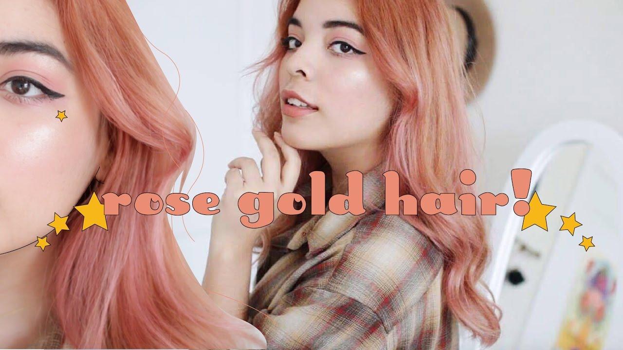 Diy Peachy Rose Gold Hair Youtube