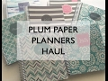 Plum Paper Planners Haul and Review (better than the Erin Condren?)