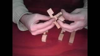 Six Of Six Wooden Puzzle: Burr Wooden Cross Brain Benders