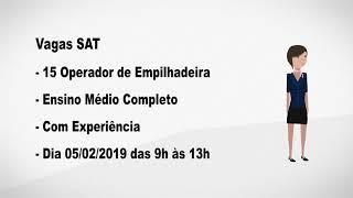 Vagas SAT - 31/01/2019