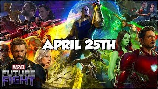 INFINITY WAR UPDATE *TIME* CONFIRMED - Marvel Future Fight
