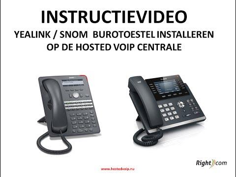 SNOM of Yealink VOIP telefoon instellen hosted voip centrale